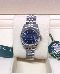 Rolex replica Datejust Lady 179174 26mm Blue Baton